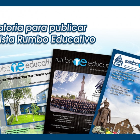 CONVOCATORIA PARA PUBLICAR EN REVISTA RUMBO EDUCATIVO