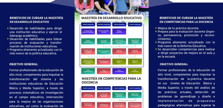 TRIPTICO DE INFORMACION ACERCA DE LOS PROGRAMAS DE MAESTRIA.