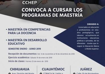 CCHEP invita a cursar sus programas de Maestría en Competencias para la Docencia y Maestría en Desarrollo Educativo