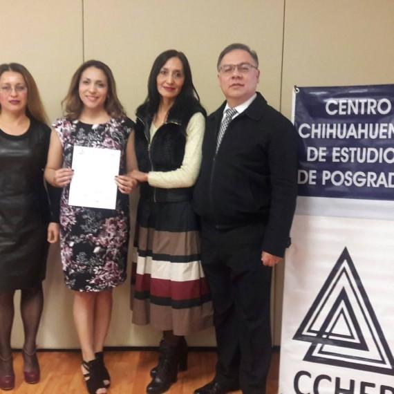 ¡Muchísimas felicidades Mtra. Anabel Quezada, el CCHEP se congratula con tu titulación y te desea éxito en la continuación de tu proyecto!