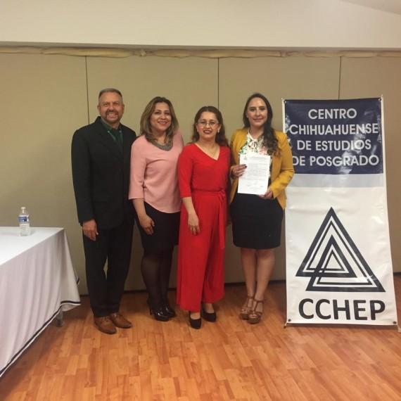 ¡Felicidades Ivonne, un gran honor que concluyas tus estudios y te encuentres alcanzando el éxito! El CCHEP se enorgullece y reconoce tu esfuerzo.
