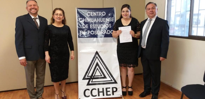 ¡Alejandra recibe el reconocimiento de la comunidad del Cchep por este gran logro!