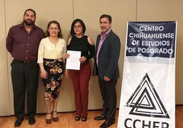 ¡Enhorabuena Mtra. Selene Columba, el CCHEP la felicita y le desea éxito en el seguimiento e implementación de su proyecto!
