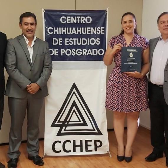 El CCHEP se congratula con el éxito profesional de la Mtra. Thelma Paola, muchísimas felicidades, enhorabuena!