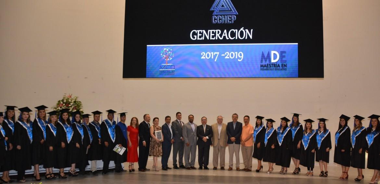 Ceremonia de graduación de los programas de Maestría en Competencias para la Docencia y Maestría en Desarrollo Educativo de la Generación 2017- 2019. Contamos con la distinguida presencia del Secretario de Educación y Deporte, Dr. Carlos González Herrera. ¡Felicidades a la nueva generación de egresadas y egresados!!