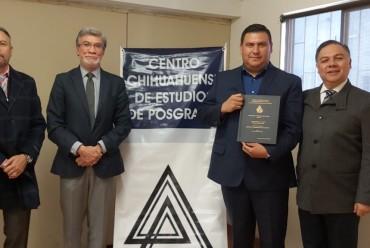 ¡Una felicitación para el nuevo Mtro. Enrique Estrada!