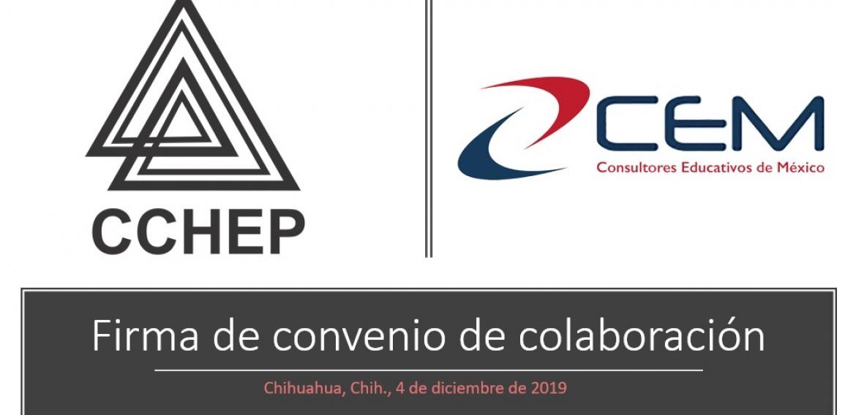 Firma de un convenio de colaboración entre Consultores Educativos de México (CEM) y el Cchep.