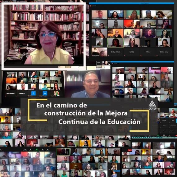 Conferencia «En el camino de construcción de la Mejora Continua de la Educación», dictada por la Dra. Etelvina Sandoval Flores